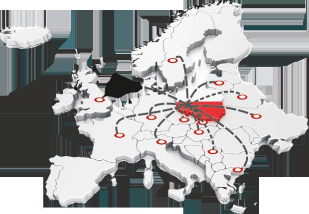 mapa zasięgu działania Borpelle